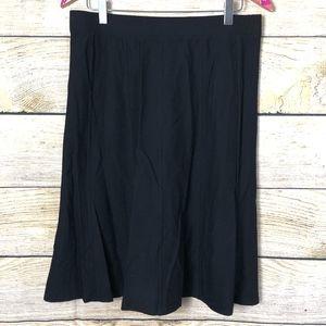 Black Eileen Fisher skirt size S // T04